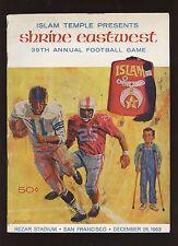 1963 NCAA Football  Program East vs. West All Star Game VGEX