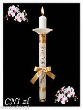 Exklusive Taufkerze Name und Datum, Kommunionkerze Mädchen Junge Kerzenschleife