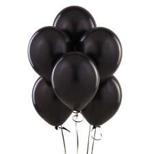 "10"" Black Plain Latex Balloons Party Decorations Wedding Anniversary Birthday"
