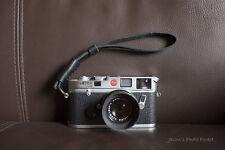 Handmade Real Leather wrist camera strap for vintage film EVIL camera BLACK