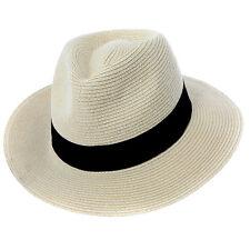 Unisex Mujeres Hombres Paja Sombrero borsalino Sol Verano Playa Ancho Ala Panama