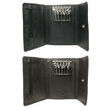 Uomini Donne Nero Marrone in Cuoio Di Lusso Chiave fermacasse carta di credito wallet 0121