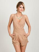 Womens Casual Sleeveless V Neck Criss Cross Romper Jumper Jumpsuit Party Dress