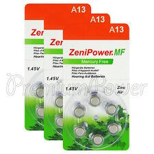 ZeniPower 13 Size Hearing aid batteries Zinc air PR48 A13 Mercury free Value