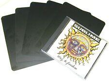 "(800) CDNS68BK30 Black CD Box Divider Cards TALL Heavy Duty 5-5/8""x6-3/4"" 30 Mil"