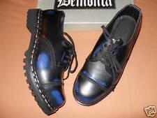 Nos ROCKY 3 Black Blue Leather Steel Cap Shoes Working Class Punk Rocker Mod M4
