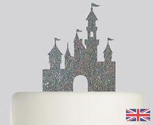 Princess Castle Wedding Cake topper Acrylic Glitter cake Decoration.778