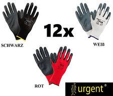 Arbeitshandschuhe Mechanikerhandschuhe Sicherheitshandschuhe schwarz, weiß, rot