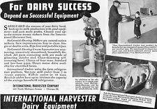 1941 International Harvester IH McCormick Deering Milker Separator & Cooler Ad