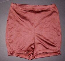 NWOT Booty Shorts Highwaist Dance Shorts elastic waist & leg Nutmeg brown ladies