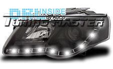 Fari Anteriori Dayline DRL LED Luci Diurne Volkswagen Passat 3C 05-10 Neri