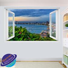 THAILAND PATTAYA BEACH WALL STICKERS ART DECAL MURALS ROOM OFFICE SHOP DECOR VP7