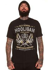 Dragstrip ropa para hombre Negro Hooligan Tatuaje vida Rock N Roll Hot Rod t`shirt