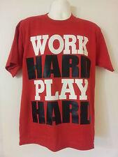 Work Hard Play Hard Red T-Shirt