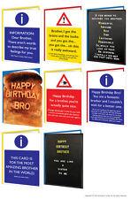 Brainbox Candy Brother Bro Birthday greeting cards funny rude cheeky joke risque