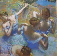 Edgar Degas Blue Dancers  Giclee Canvas Print
