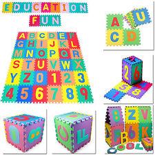 36pcs LARGE Alphabet Numbers EVA Floor Mat Baby Room Jigsaw Mat Soft Foam Puzzle