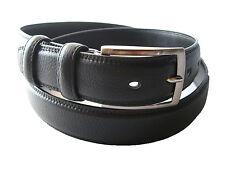 Cinturon de Piel Color  Negro (100 % PIEL DE UBRIQUE)