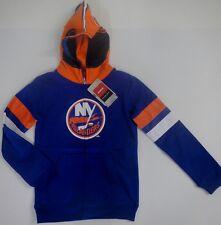 Reebok Faceoff Youth New York Islanders Hockey Royal Powell Helmet Hooded Jacket