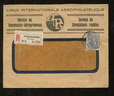 ADVERTISING 1930 HOLLAND REGIST.AEROPHILATELIC WINDOW ENV.to SWISS 27 1/2c