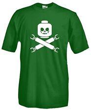 T-shirt J899 Lego Skull Maglietta Funny Maglia Cotone