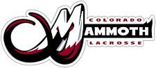 "Colorado Mammoth NLL Lacrosse Car Bumper Locker Window Sticker Decal 7""X3"""
