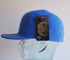 KB ETHOS FITTED PLAIN CAPS FLAT PEAK BNWT HIP HOP SNAPBACK/BASEBALL CAP SKY BLUE