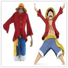 One piece monkey d luffy 2 ans plus tard cosplay costume top pantalon chapeau paille