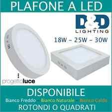 PLAFONIERA LED SOFFITTO 18W RESA 220W 220V PANNELLO LAMPADA  ESTERNO 12W 18W 24W