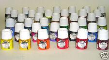Pebeo Setacolour Opaco Tessuto Vernice 45 ml Bottiglia. scegliere tra 40 COLORI
