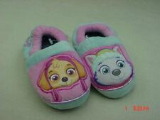 NWT Toddler Girls Paw Patrol Scuff Slippers Pink blue Cute Warm Cozy footwear