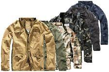 Brandit Britannia Herren Jacket Mantel Army Militär Feldjacke Vintage Parka Men