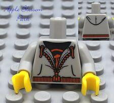 NEW Lego Male/Boy/Girl MINIFIG TORSO - Gray w/Zipper Hoodie Jacket Shirt Pattern