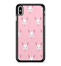 Carino Coniglietto Rosa Motivo Animale Animali Domestici SOFFICI Adorable 2D TELEPHONO CASE COVER