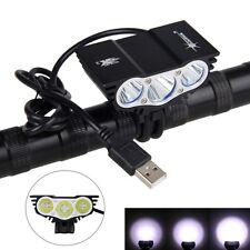 5V USB 10000 LM 3x XML T6 LED SolarStorm Fahrrad Kopf Scheinwerfer Kopflampe