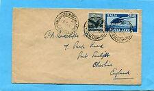 1947 P.A.DEM.£.25 azzurro + DEM.£.10 ann.AUGUSTA,18.05.47 X INGHILTERRA (231657)
