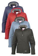 Résultat bleu rouge ou noir polaire doublé Mesdames ski Femme Soft Shell Veste Manteau