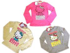 Hello Kitty Long Sleeve T shirts Grey Yellow Cerise 4y 6y 8y 10y