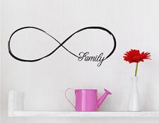 Wandaufkleber: Symbol Unendlichkeit Familie Family Liebe Schlafzimmer WandTattoo