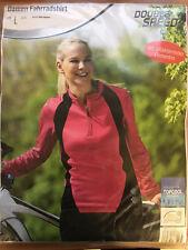 Damen Fahrradshirt mit reflektrierenden Elementen Pink/Schwarz