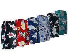 Mens New Summer Floral Print Beach Shorts Surf Board Swim Shorts S - XXL