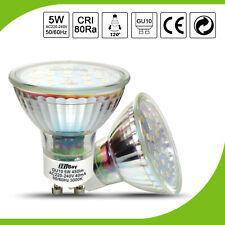 5X 10X 20X 5W GU10 LED Ampoule 18SMD Projecteur Lampe Blanc Chaud Pur 450LM 120°