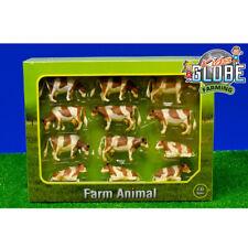 Van Manen Kids Spielzeug Globe Kuh M1:32 braun weiß liegend/stehend Set 12 Stk.