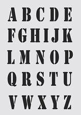 Alphabet Letters UPPERCASE 35mm font MYLAR STENCIL Craft Arts 190 micron