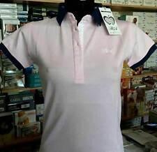 Polo donna Baci & Abbracci con logo ricamato e stampa sul collo art BA01301 RO