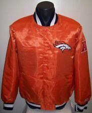 DENVER BRONCOS Satin Jacket Original STARTER Traditional M L XL 2X ORANGE