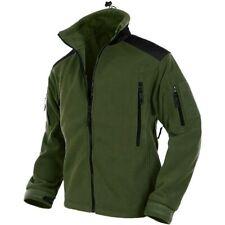 MFH Fleece Jacket Full Zip Multiple Pockets Hiking Outdoor Olive OD
