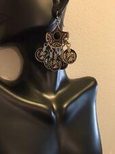 Fashion Jewelry Vintage Retro Boho Dangle Earrings Coin Charms Silver Plate