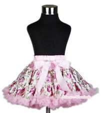 VALENTINE Romantic Pink Rosettes full pettiskirt tutu dress girl clothing 1-8Y