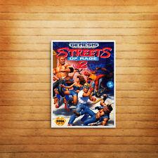 Streets of Rage Poster Print Wall Art Retro Gaming Sega Genesis Cover - 1002